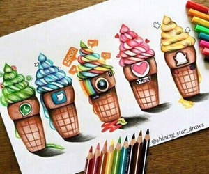instagram, snapchat, and ice cream image