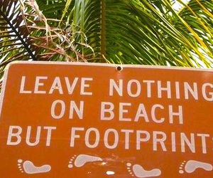 beach, summer, and footprints image