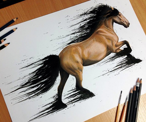 horse, drawing, and art image