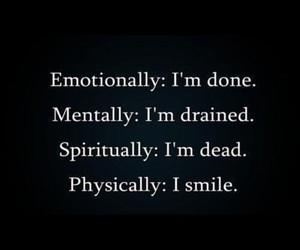 depressed, sad, and smile image