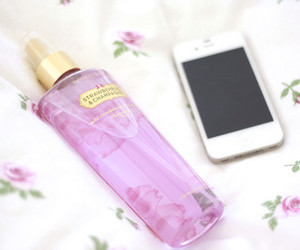 cell phone, fragrance, and perfume image