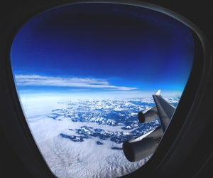 blue, travel, and sky image