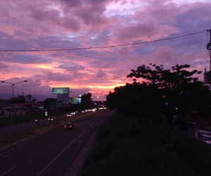costa rica, pink, and sky image