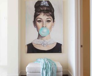 art, audrey hepburn, and brunette image