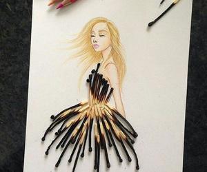 drawing, dress, and beautiful image