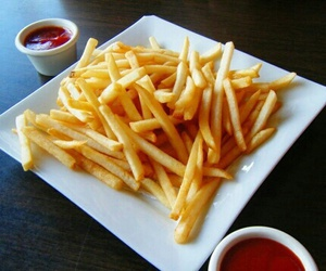 food, yummy, and fries image
