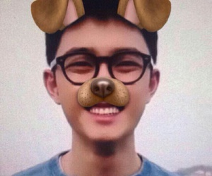 Chen, dog, and kpop image