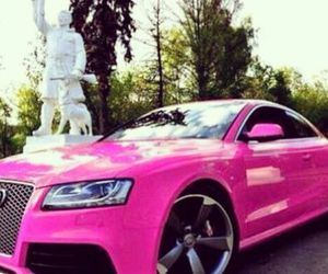 audi, pink, and car image