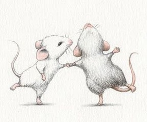 drawing, mouse, and dancing image
