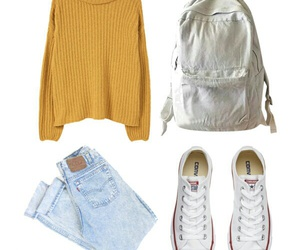 converse, mustard, and Polyvore image