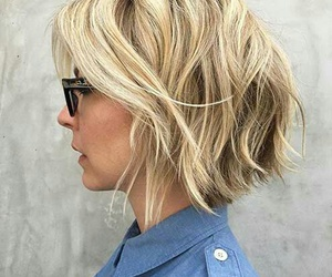 blond, haircut, and carré image