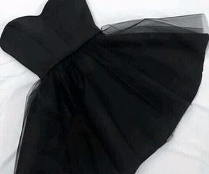 black, dress, and mini dress image