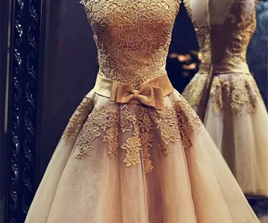 clothes, gold, and gold dress image