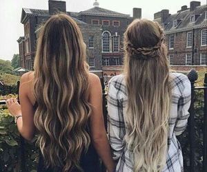 girl, hairstyle, and friends image