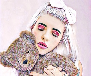 melanie martinez, teddy bear, and cry baby image