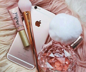 pink, iphone, and makeup image