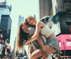 best friends, girls, and nyc image