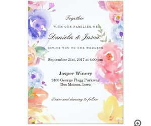 beautiful, flowers, and invitation image