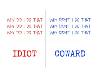 anxiety, blue, and coward image