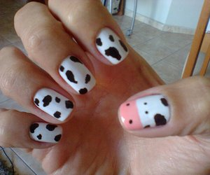 nails, cow, and cute image