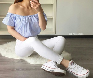 fashion, girl, and converse image