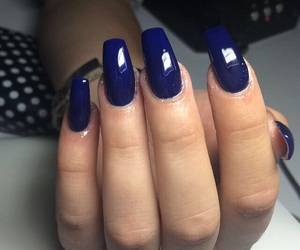 blue, blue nails, and manicure image
