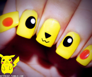 nails, pikachu, and cute image