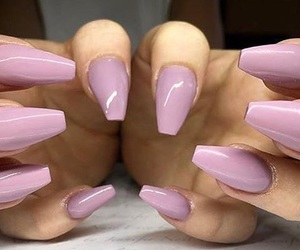 nails, pink, and uñas image