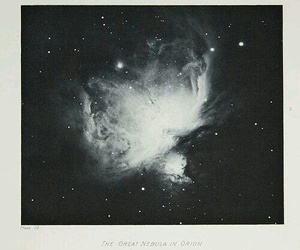 stars, black and white, and space image