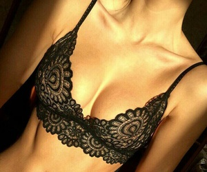 black, lingerie, and underwear image