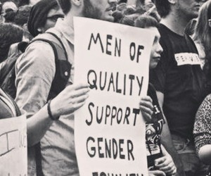 equality, girl power, and black and white image