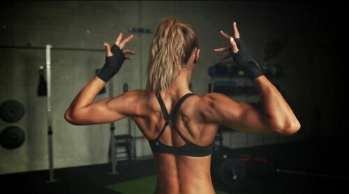 back, fit, and girl image