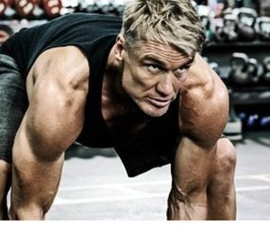 actor, dolph lundgren, and fitness image