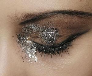 glitter, eyes, and make up image