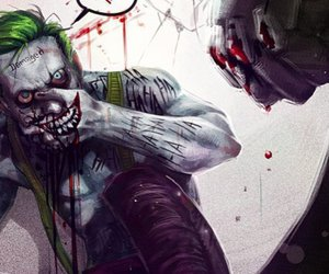 joker, suicide squad, and art image