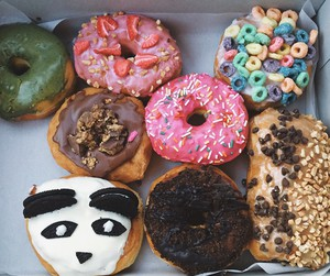 donuts, food, and yummy image