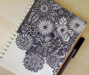 mandala, drawing, and art image