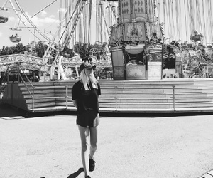 chairoplane, funfair, and girl image