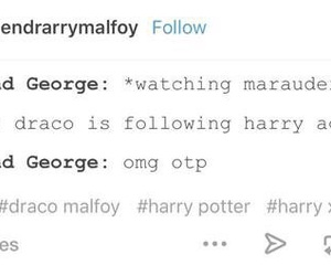 harry potter, tumblr, and drarry image
