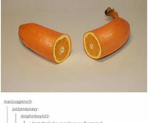 banana, orange, and funny image