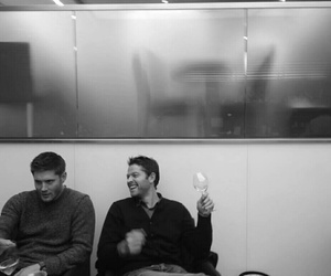 Jensen Ackles, misha collins, and dean winchester image
