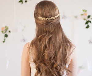 brown hair, hair, and etsy image