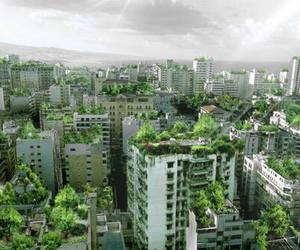 green, city, and nature image