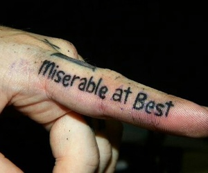tattoo, miserable, and mayday parade image