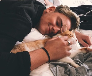 brothers, cat, and kitty image