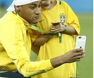 2016, gold medal, and neymar image