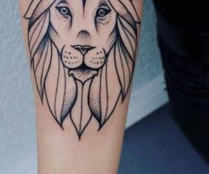 animal, tattoo, and lion image