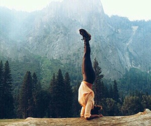 nature, yoga, and mountains image