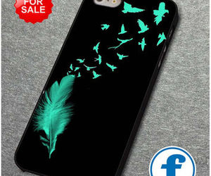 birds, feather, and black image