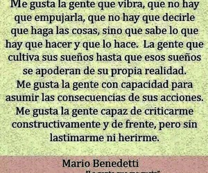 mario benedetti, frases, and me gusta image
